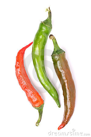 Free Three Chili Peppers Royalty Free Stock Photography - 6397077