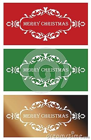 Three christmas banners