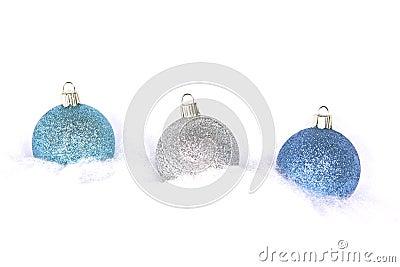 Three Christmas Bulbs