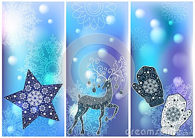 Three Christmas cards