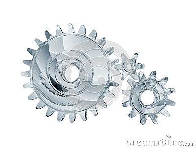 Three chrome gears