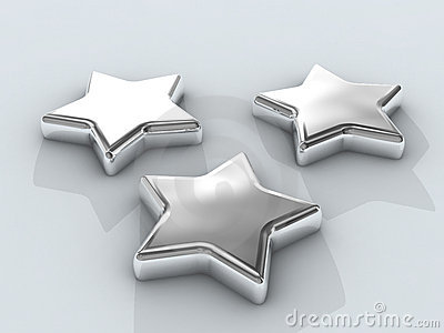 Three Chrome stars