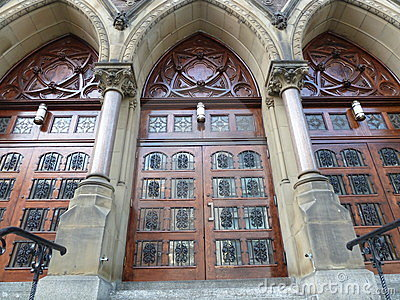 Three church doors