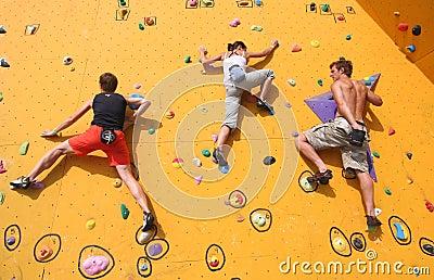 Three Climbers Editorial Photo