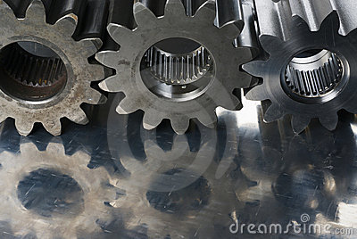 Three cogs in a row