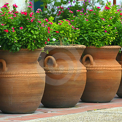 Free Three Coiled Clay Pots Royalty Free Stock Image - 1093556