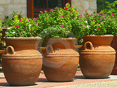 Three Coiled Clay Pots 2