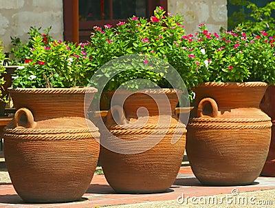 Three Coiled Clay Pots 2