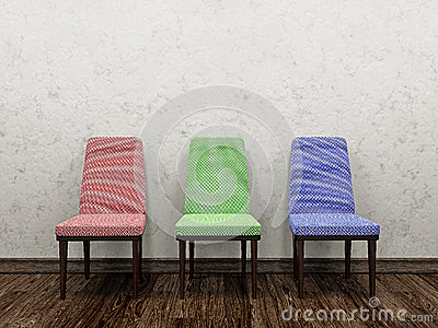 Three color chairs