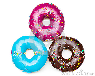 Three color donuts