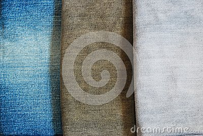 Three color jeans pile background texture