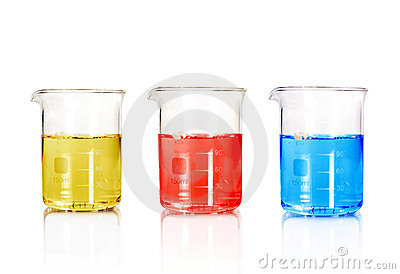 Three color Test-tubes