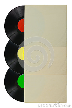 Three color vinyl record