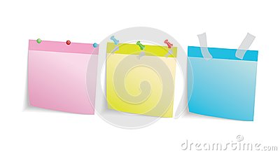 Three colored stationery leaf