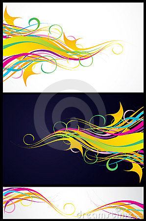Three colorful backgrounds