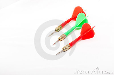 Three colorful darts