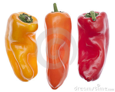 Three Colors of Vibrant Peppers