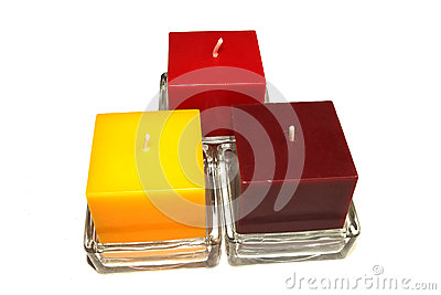 Three colour candles