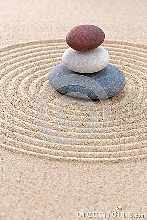 Free Three Coloured Round Pebbles Zen Garden Stock Photo - 29688460