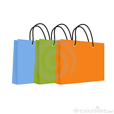 Three Colourful Shopping Bags