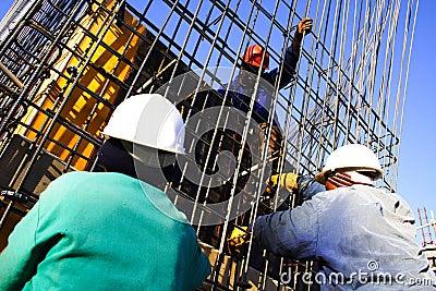 Three construction worker