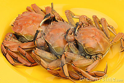 Three Cooked Crab