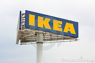 A three-cornered ikea sign Editorial Photography