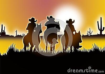 three Cowboy