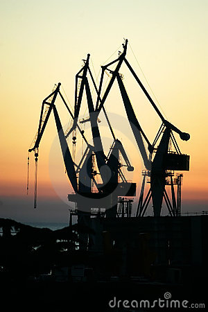 Free Three Crane Royalty Free Stock Images - 2845609