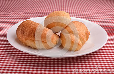 Three croissants ona dish