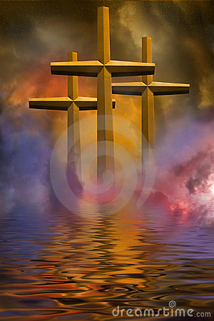 Free Three Crosses Royalty Free Stock Image - 4250196