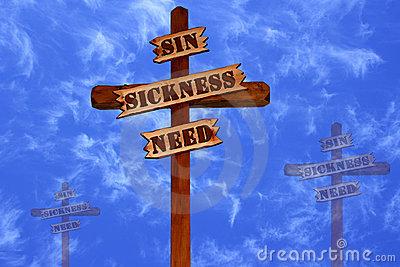 Three Crosses, Sin, Sickness, Need
