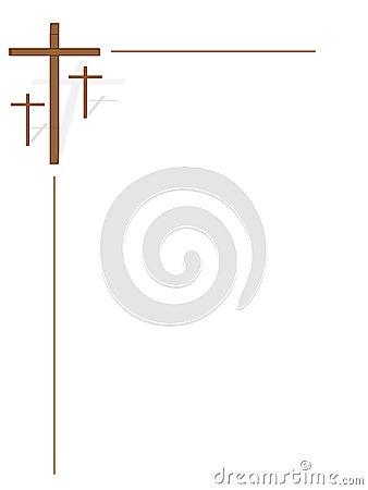 Three Crosses On White