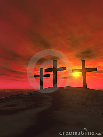 Free Three Crosses_vertical Royalty Free Stock Photo - 1945875