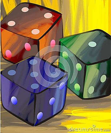 Three cube