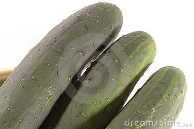 Three cucumbers diagonal