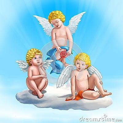 Three cupids