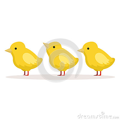 Free Three Cute Chickens Standing One After Another Vector Illustration Stock Photo - 94674490