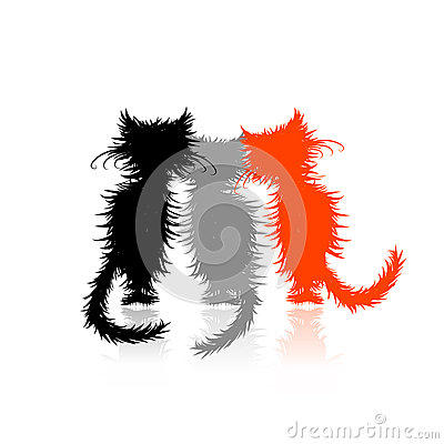 Three cute kittens for your design