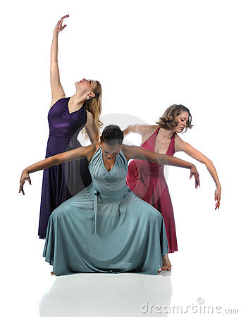 Three Dancers Performing