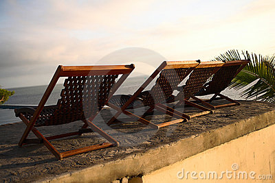 Three deck chair chairs