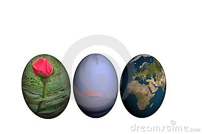 Three Decorated Easter Eggs