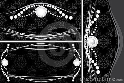 Three decorative backgrounds for jewelry design