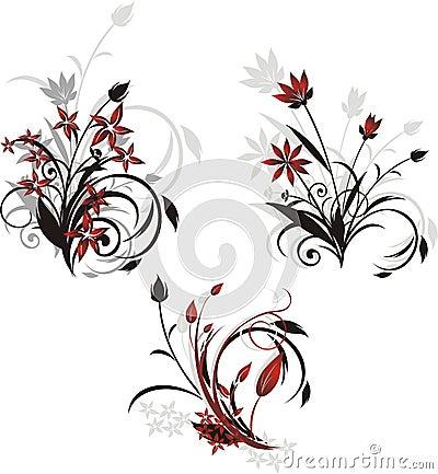 Three decorative  bouquets