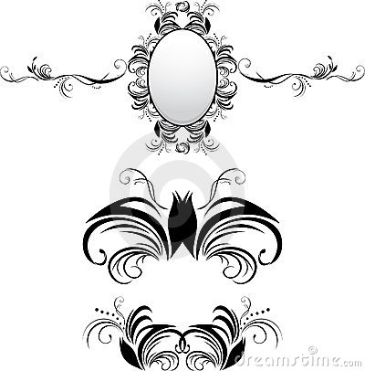Three decorative elements for decor