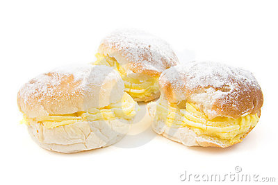 Three delicious cream sandwiches
