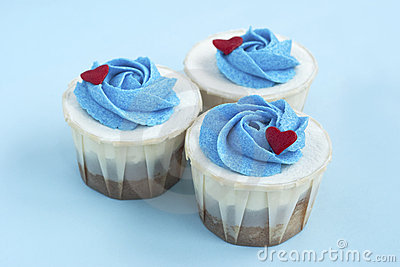 Three Delicious Love Cupcake Group Together