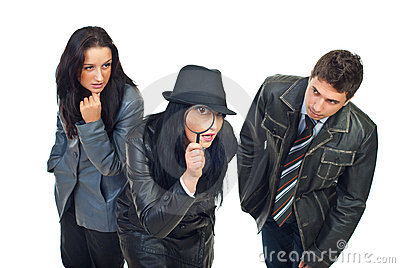 Three detectives investigate