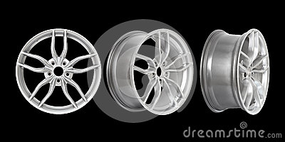 Three different angles rims
