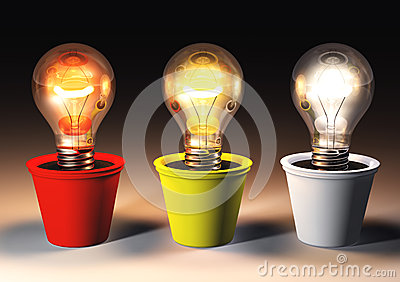 three different light bulbs stock images image 38748134. Black Bedroom Furniture Sets. Home Design Ideas